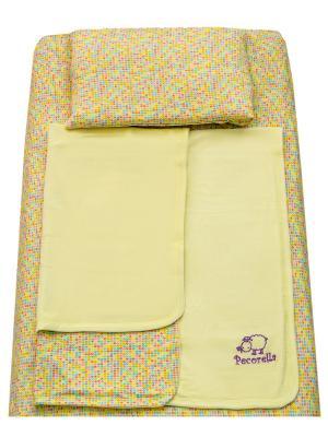 Детское постельное белье Pecorella Yellow Hearts. Цвет: красный, желтый, розовый