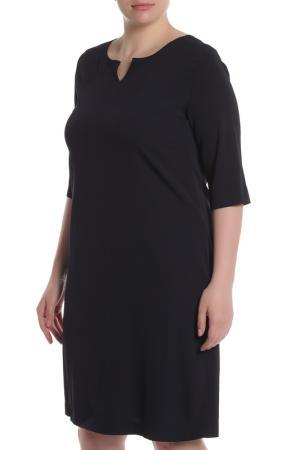 Свободное платье с рукавами 1/2 EUROPEAN CULTURE. Цвет: темно-синий