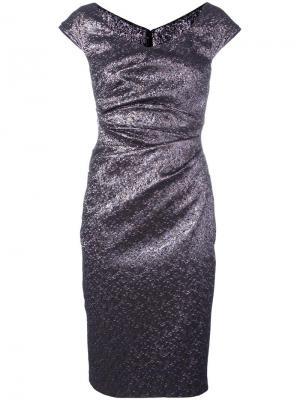 Платье Kortney Talbot Runhof. Цвет: металлический
