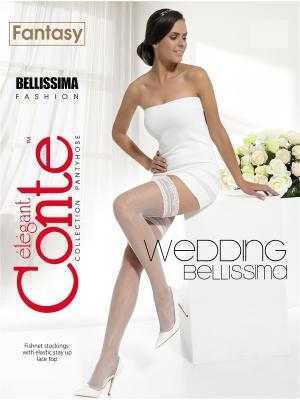Чулки Conte BELLISSIMA Elegant. Цвет: белый