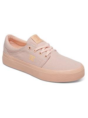Кеды DC Shoes. Цвет: персиковый