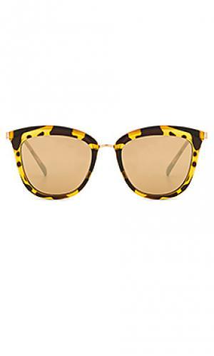 Солнцезащитные очки caliente Le Specs. Цвет: коричневый
