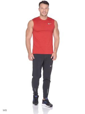 Майка M NK BRTHE MILER TANK SL COOL Nike. Цвет: красный