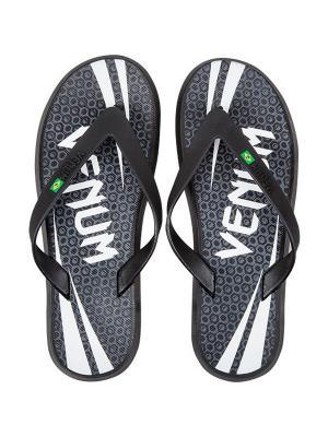 Сланцы Venum Challenger Sandals - Black. Цвет: черный, белый