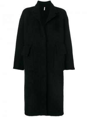 Объемное пальто Boboutic. Цвет: чёрный
