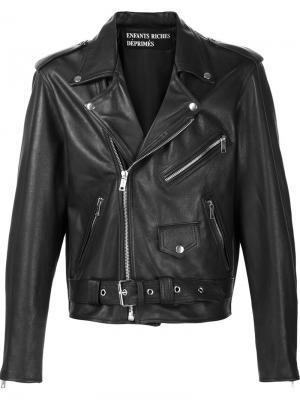 Укороченная байкерская куртка Enfants Riches Deprimes. Цвет: чёрный