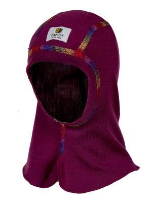 Шапка-шлем Janus. Цвет: бордовый