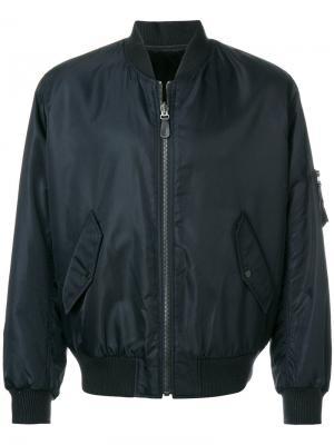 Двухсторонняя куртка-бомбер Yves Salomon Homme. Цвет: чёрный