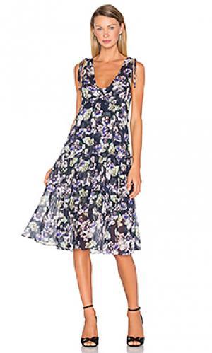 Платье миди pax print Marissa Webb. Цвет: синий