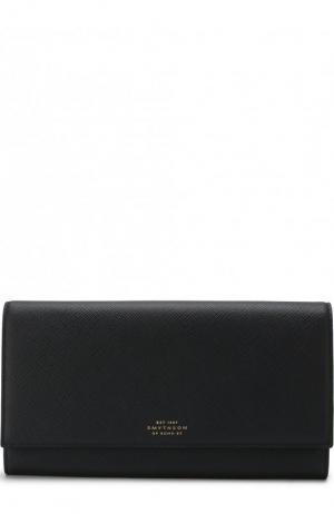 Кожаный бумажник Panama Marshall Smythson. Цвет: темно-синий