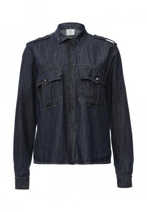 Рубашка джинсовая Rinascimento. Цвет: синий