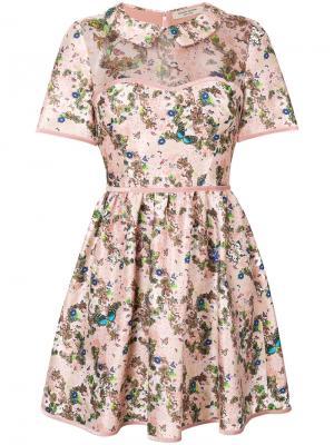 Платье мини с цветочным принтом Piccione.Piccione. Цвет: многоцветный