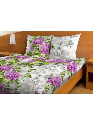 Комплект постельного белья Amore Mio  Shato 1,5 сп. Цвет: серый,сиреневый