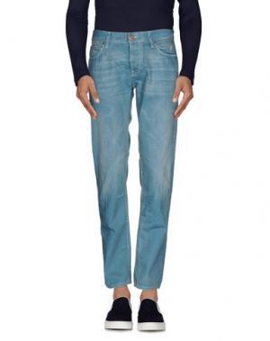 Джинсовые брюки IT'S MET. Цвет: цвет морской волны