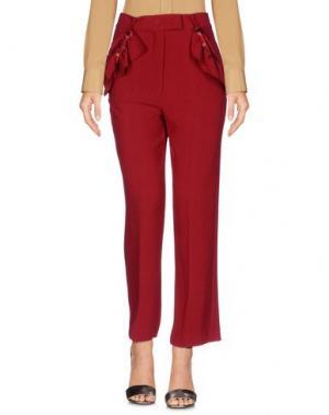 Повседневные брюки SHIRTAPORTER. Цвет: красно-коричневый