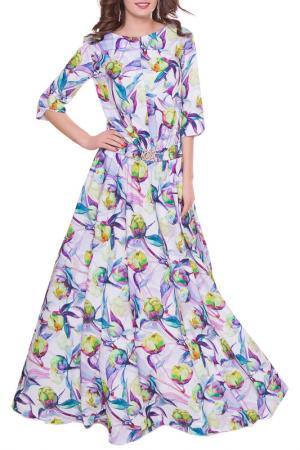 Платье Olivegrey. Цвет: бело-сиреневый