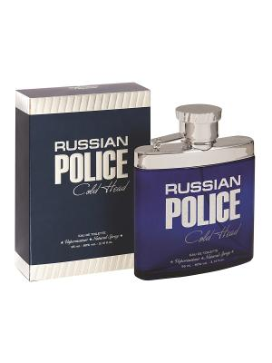 Туалетная вода Russian Police Cold Head (Рашен Полис Колд  Хэд) 95мл SERGIO NERO. Цвет: прозрачный