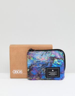 ASOS Бумажник на молнии с принтом. Цвет: мульти