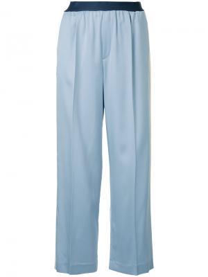 Прямые брюки с полосками по бокам Astraet. Цвет: синий