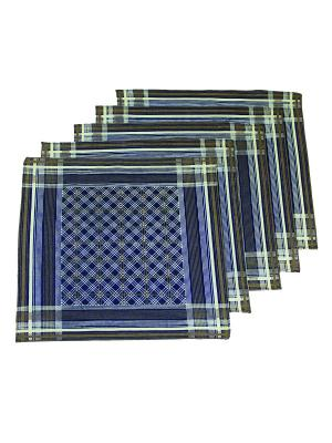 Платок, 10 шт Римейн. Цвет: темно-синий, коричневый