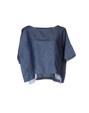 Джинсовая рубашка OTTOD'AME. Цвет: синий
