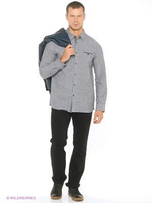 Рубашка MUSTANG. Цвет: серый, белый