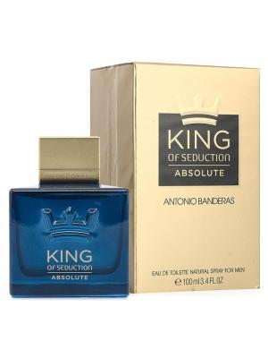 King Of Seduction Absolute men edt 100 ml ANTONIO BANDERAS. Цвет: темно-синий