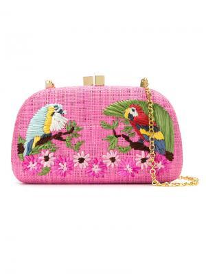 Parrots clutch Serpui. Цвет: розовый и фиолетовый