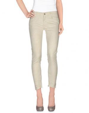 Повседневные брюки FAIRLY. Цвет: светло-желтый