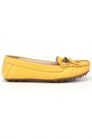 Мокасины DERI&MOD. Цвет: желтый