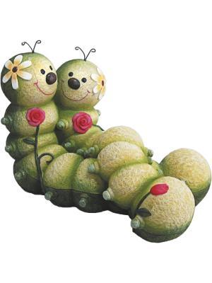 Фигурка садовая Гусеницы GREEN APPLE. Цвет: зеленый