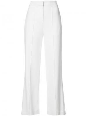 Широкие брюки Adam Lippes. Цвет: белый