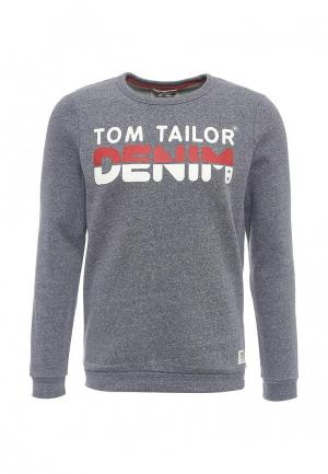 Свитшот Tom Tailor Denim. Цвет: синий