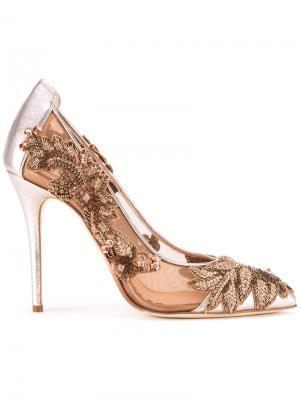 Туфли Alyssa Oscar de la Renta. Цвет: металлический