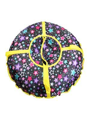 Санки надувные Ватрушка Метиз. Цвет: черный, желтый
