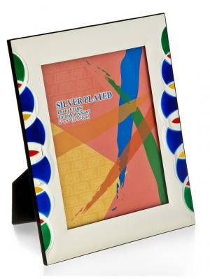 Фоторамка Яркие краски для фото 20*25см Glory Design. Цвет: синий, зеленый, серебристый