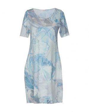 Короткое платье GRAN SASSO. Цвет: небесно-голубой
