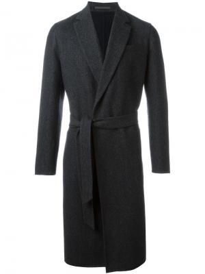 Пальто с нагрудным карманом Caruso. Цвет: серый