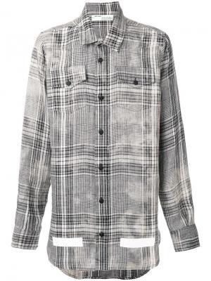 Рубашка в клетку Off-White. Цвет: телесный