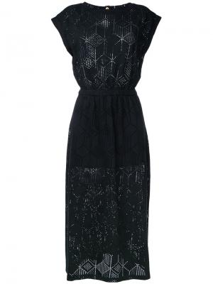Платье Alefe Maison Olga. Цвет: чёрный