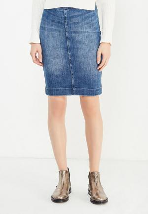 Юбка джинсовая Armani Exchange. Цвет: синий