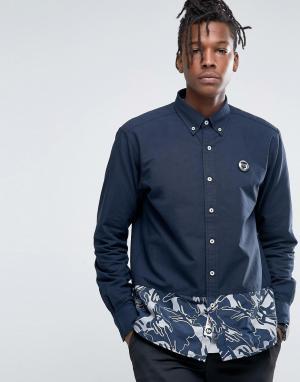 AAPE BY A BATHING APE Рубашка классического кроя с камуфляжным принтом. Цвет: черный