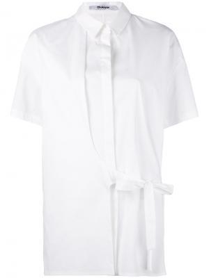 Асимметричная рубашка с завязками на поясе Chalayan. Цвет: белый