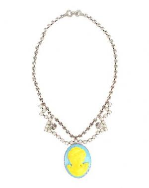 Ожерелье TOM BINNS. Цвет: небесно-голубой