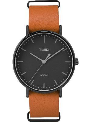 Часы TIMEX. Цвет: черный, оранжевый