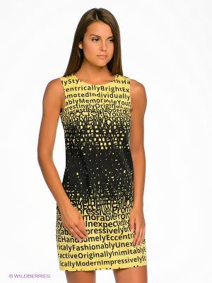 Платье DOCTOR E. Цвет: желтый, черный