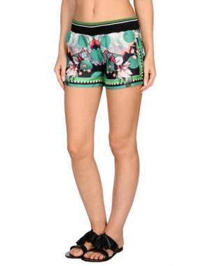 Пляжные брюки и шорты ROBERTO CAVALLI BEACHWEAR. Цвет: зеленый