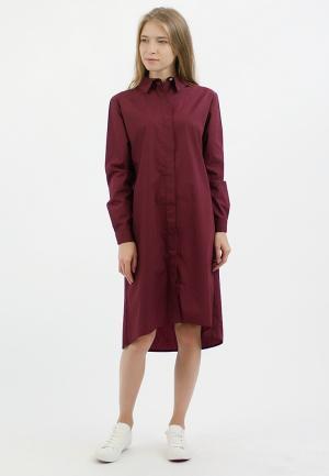 Платье Monoroom. Цвет: бордовый