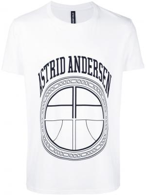 Футболка с логотипом Essential Astrid Andersen. Цвет: белый