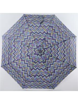 Зонт ArtRain. Цвет: темно-фиолетовый, голубой, желтый